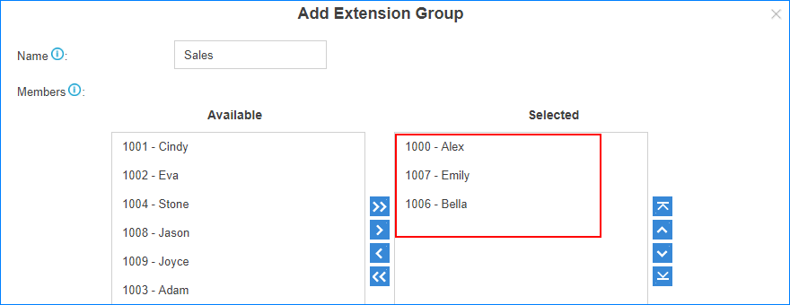 add-extension-group-in2pbx