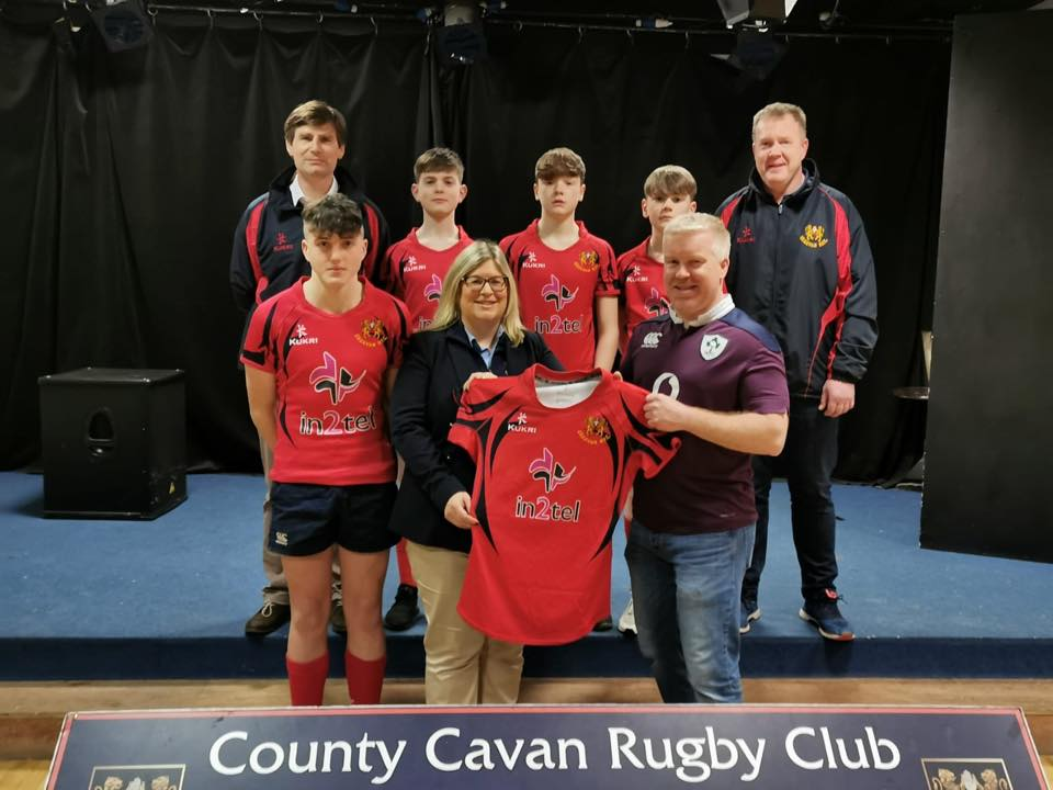 County Cavan Rugby Club present Mark with Club Jersey | in2tel